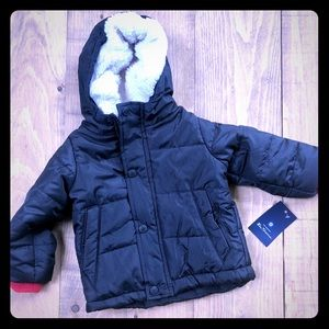 Ben Sherman Baby Boy Faux Shearling Puffer Jacket